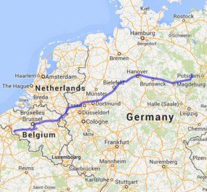 mit dem Wohnmobil nach Belgien