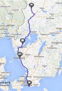 mit dem Reisemobil in Schweden - Winterurlaub