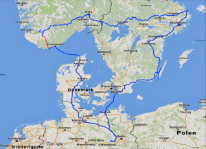 mit dem Reisemobil in Norwegen, Camping in der Nähe von Kristiansand