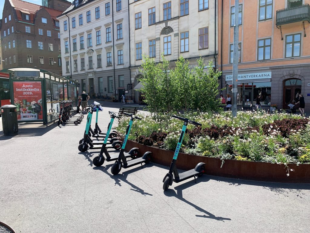Elektroroller in Stockholm